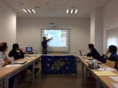 Durante la reunión en Almería, los socios hablaron sobre varios temas, entre ellos el control y seguimiento científico del proyecto.