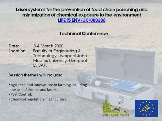 Próxima Conferencia Técnica de LaserFence en Liverpool