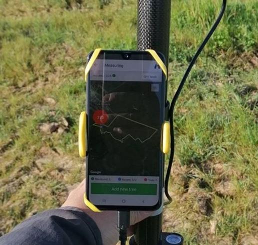 Tecnología de monitoreo para trazar cada árbol y su crecimiento